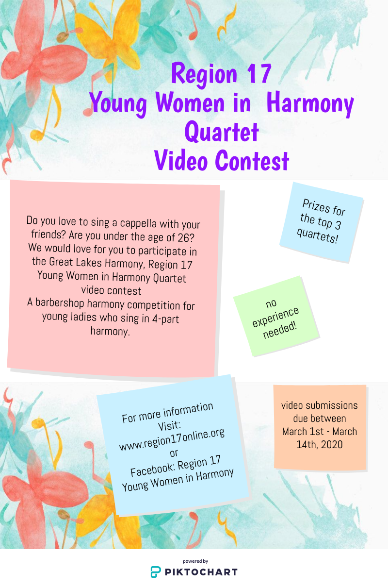 Region 17 Young Women in Harmony Quartet Video Contest
